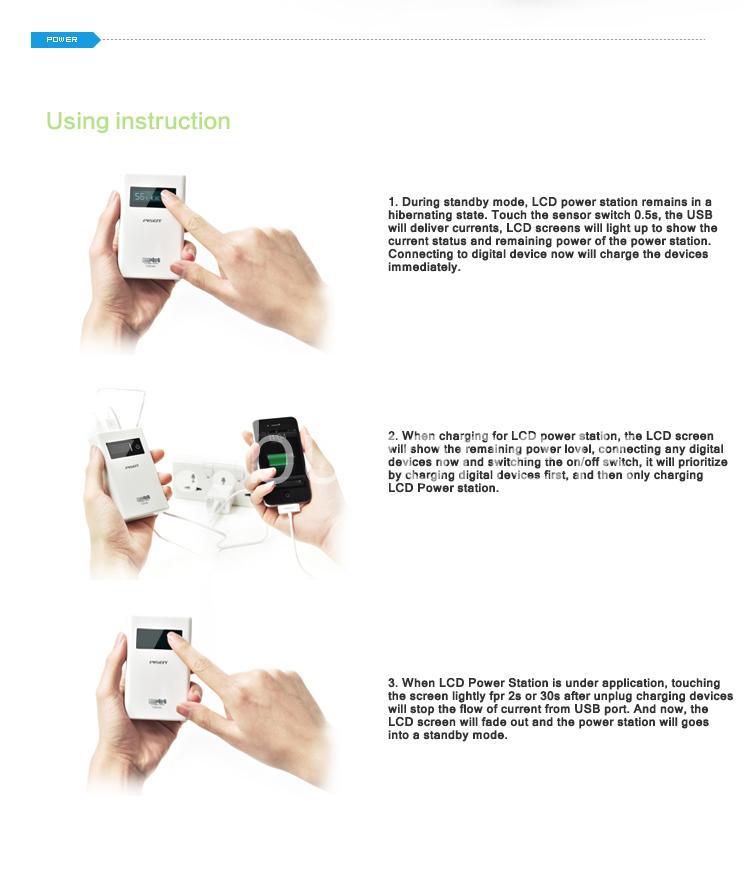 2013032014252178 - Original Pisen 7500mAh Digital LCD Mobile Power Bank