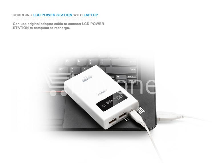 2013032014253016 - Original Pisen 7500mAh Digital LCD Mobile Power Bank