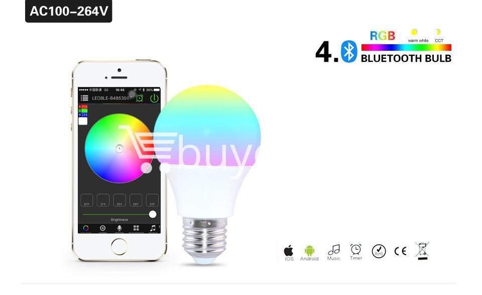 bluetooth smart led bulb for home hotel with warranty home and kitchen special best offer buy one lk sri lanka 73863 - Bluetooth Smart LED Bulb For Home Hotel with Warranty