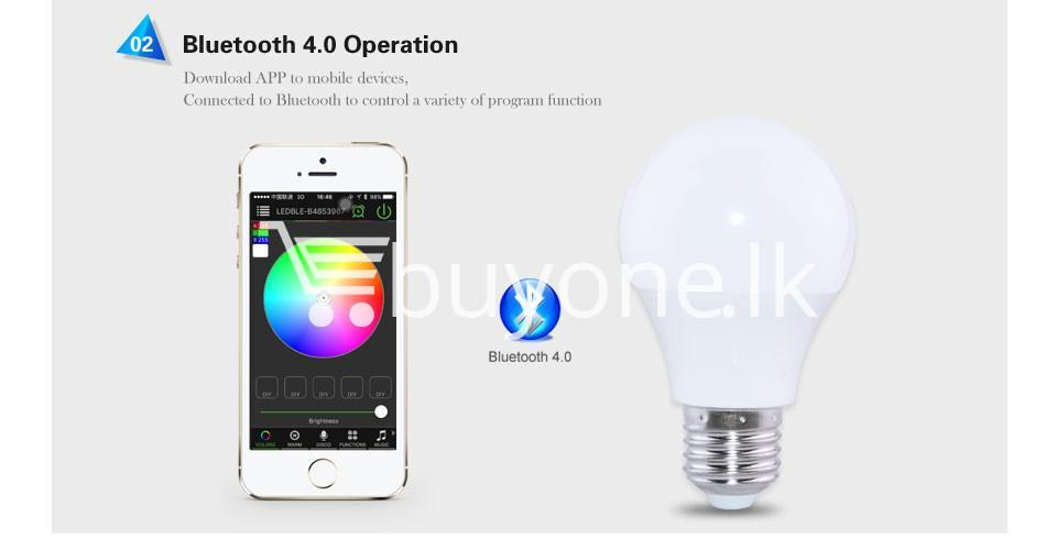 bluetooth smart led bulb for home hotel with warranty home and kitchen special best offer buy one lk sri lanka 73866 1 - Bluetooth Smart LED Bulb For Home Hotel with Warranty