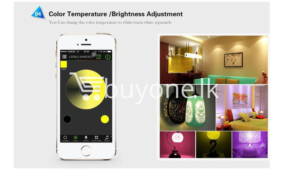 bluetooth smart led bulb for home hotel with warranty home and kitchen special best offer buy one lk sri lanka 73867 1 - Bluetooth Smart LED Bulb For Home Hotel with Warranty