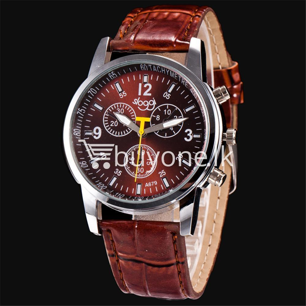 luxury crocodile faux leather mens analog watch men watches special best offer buy one lk sri lanka 10534 - Luxury Crocodile Faux Leather Mens Analog Watch