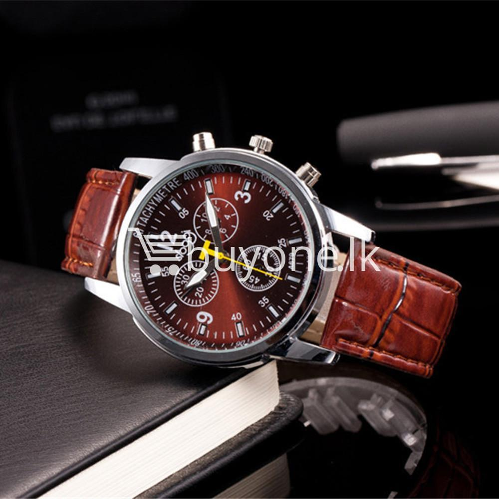 luxury crocodile faux leather mens analog watch men watches special best offer buy one lk sri lanka 10535 1 - Luxury Crocodile Faux Leather Mens Analog Watch