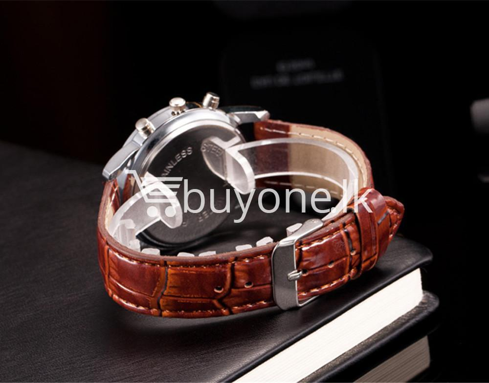 luxury crocodile faux leather mens analog watch men watches special best offer buy one lk sri lanka 10536 2 - Luxury Crocodile Faux Leather Mens Analog Watch