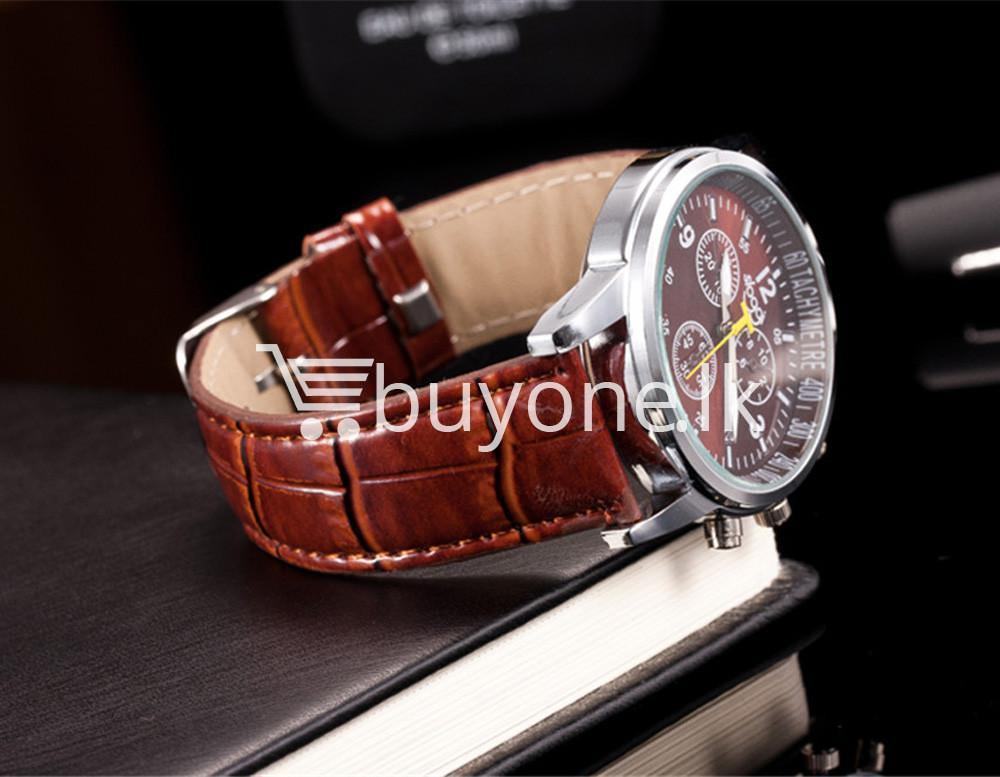 luxury crocodile faux leather mens analog watch men watches special best offer buy one lk sri lanka 10536 - Luxury Crocodile Faux Leather Mens Analog Watch
