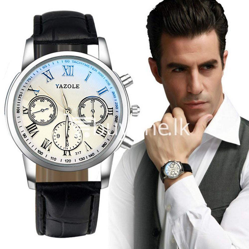 luxury fashion mens blue ray glass quartz analog watch men watches special best offer buy one lk sri lanka 10950 - Luxury Fashion Mens Blue Ray Glass Quartz Analog Watch