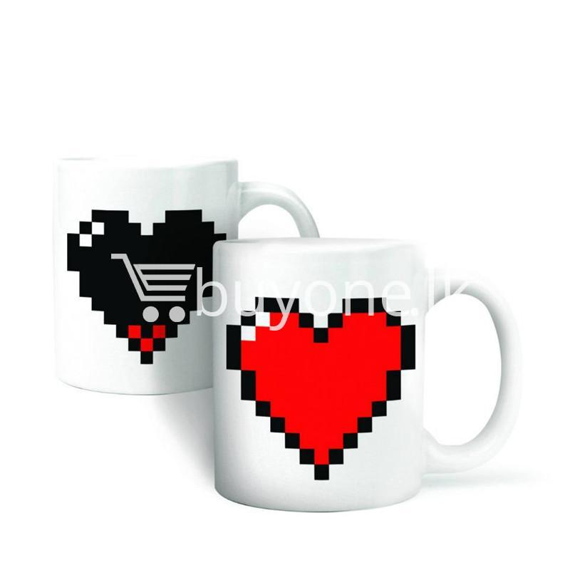 magic heart hot cold coffee mug for couples lovers home and kitchen special best offer buy one lk sri lanka 61983 - Magic Heart Hot Cold Coffee Mug For Couples & Lovers