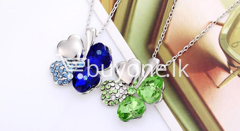 new 2016 silver crystal pendant chain necklace valentine gift jewelry store special best offer buy one lk sri lanka 12673 1 - New 2016 Silver Crystal Pendant Chain Necklace Valentine Gift
