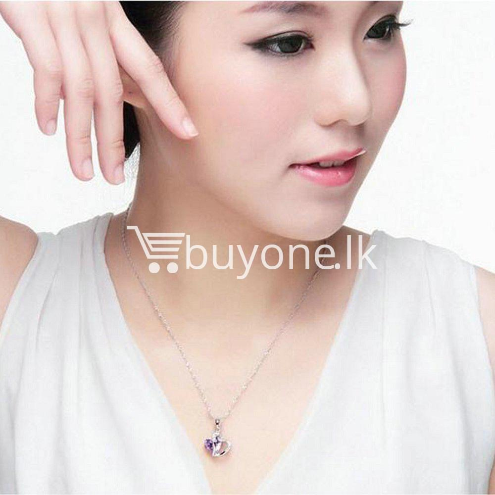 new crystal pendant necklaces heart chain valentine gifts jewelry store special best offer buy one lk sri lanka 11945 1 - New Crystal Pendant Necklaces Heart Chain Valentine Gifts