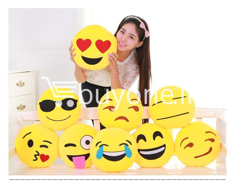 soft emotional smiley yellow round cushion pillow home and kitchen special best offer buy one lk sri lanka 10749 1 - Soft Emotional Smiley Yellow Round Cushion Pillow