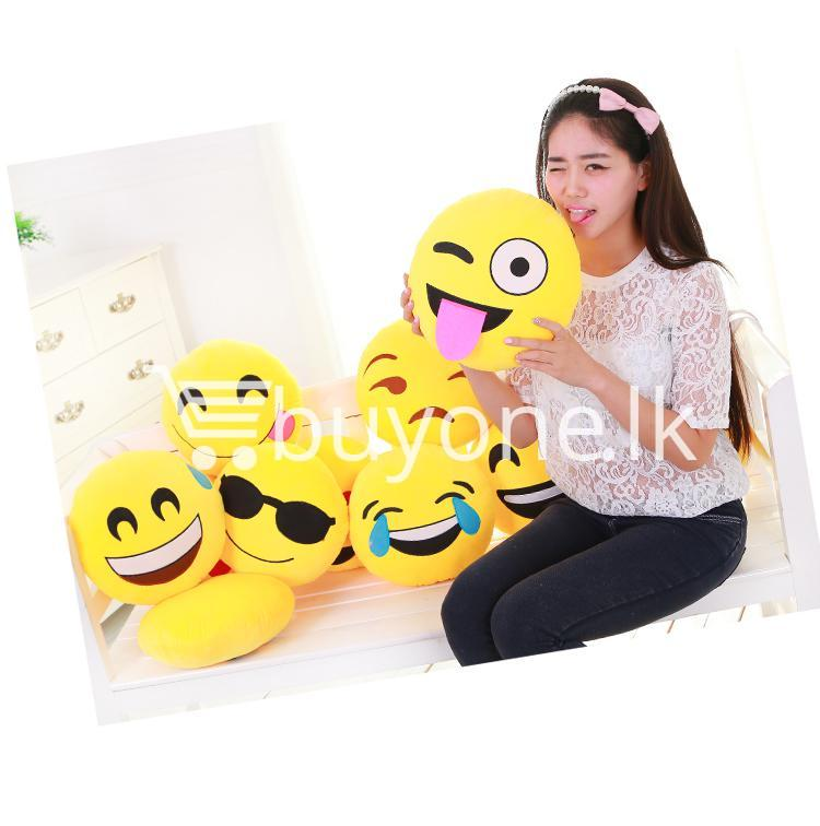 soft emotional smiley yellow round cushion pillow home and kitchen special best offer buy one lk sri lanka 10751 - Soft Emotional Smiley Yellow Round Cushion Pillow
