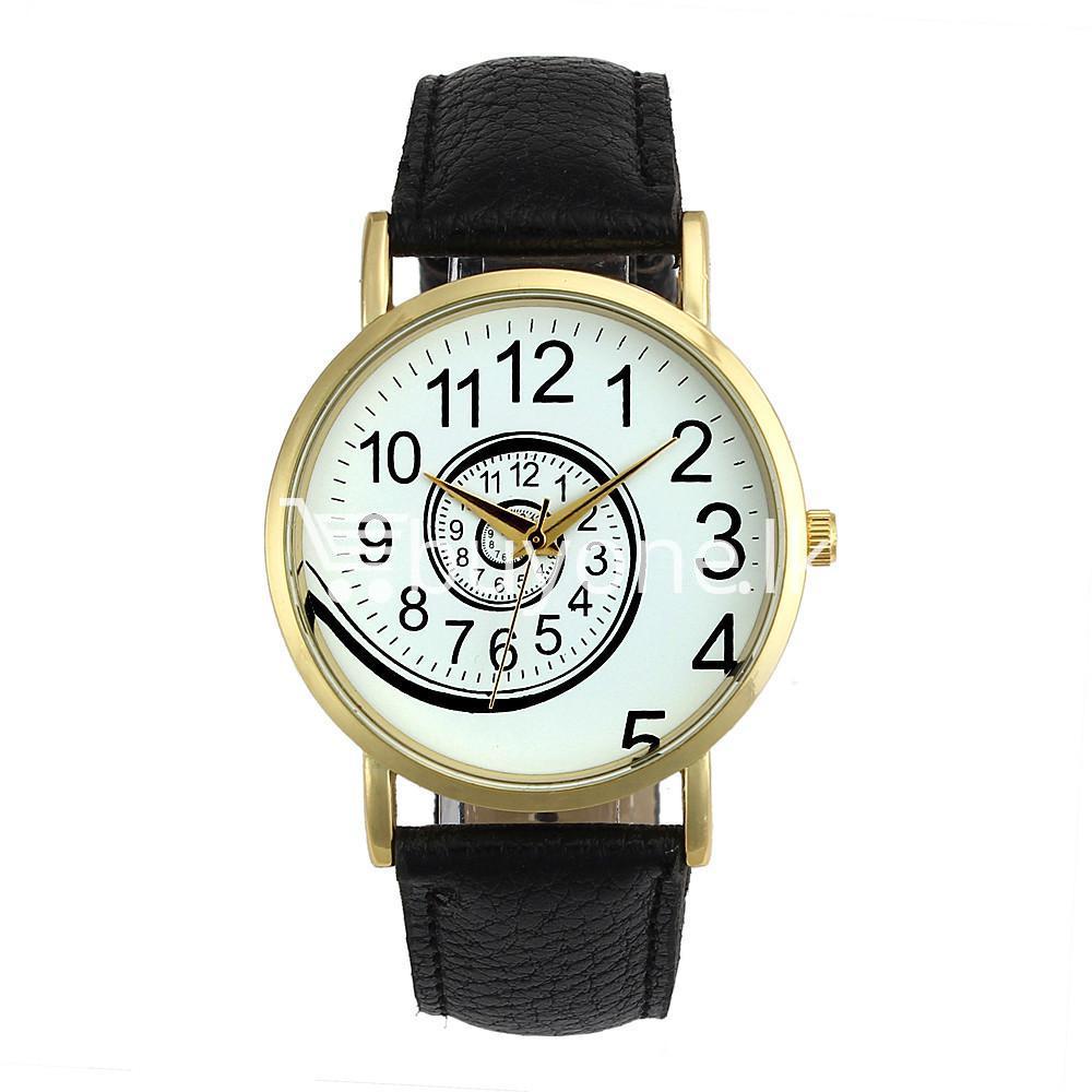 spiral design pattern quartz wrist watch watch store special best offer buy one lk sri lanka 09055 1 - Spiral Design Pattern Quartz Wrist Watch