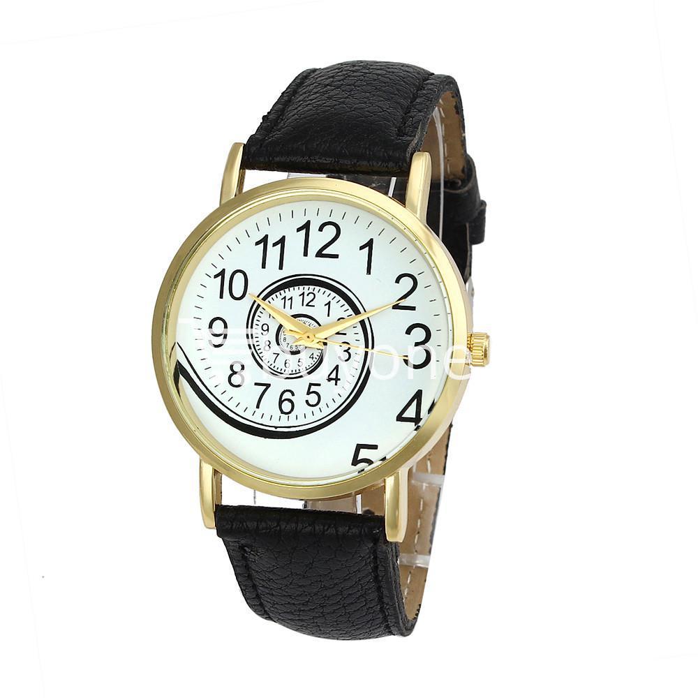 spiral design pattern quartz wrist watch watch store special best offer buy one lk sri lanka 09056 - Spiral Design Pattern Quartz Wrist Watch
