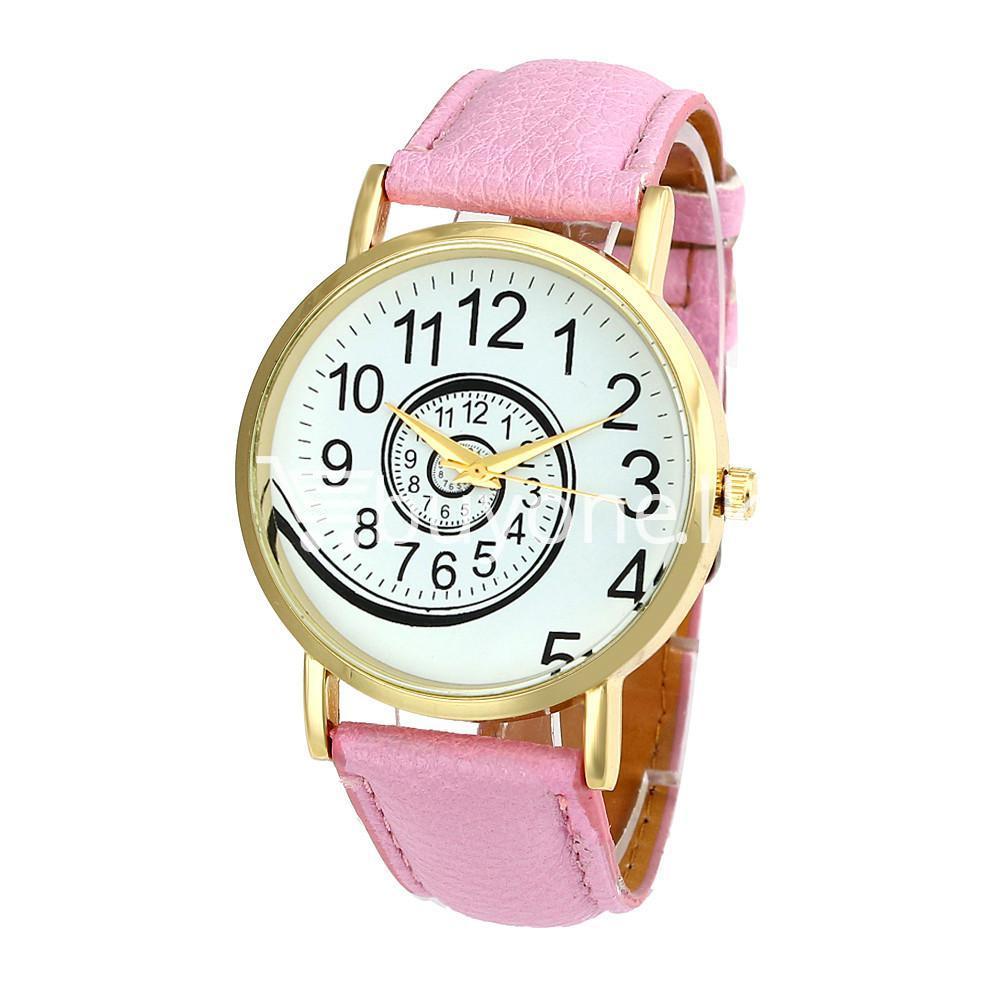 spiral design pattern quartz wrist watch watch store special best offer buy one lk sri lanka 09057 - Spiral Design Pattern Quartz Wrist Watch