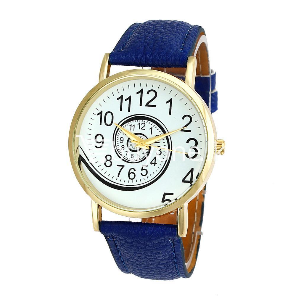 spiral design pattern quartz wrist watch watch store special best offer buy one lk sri lanka 09058 1 - Spiral Design Pattern Quartz Wrist Watch
