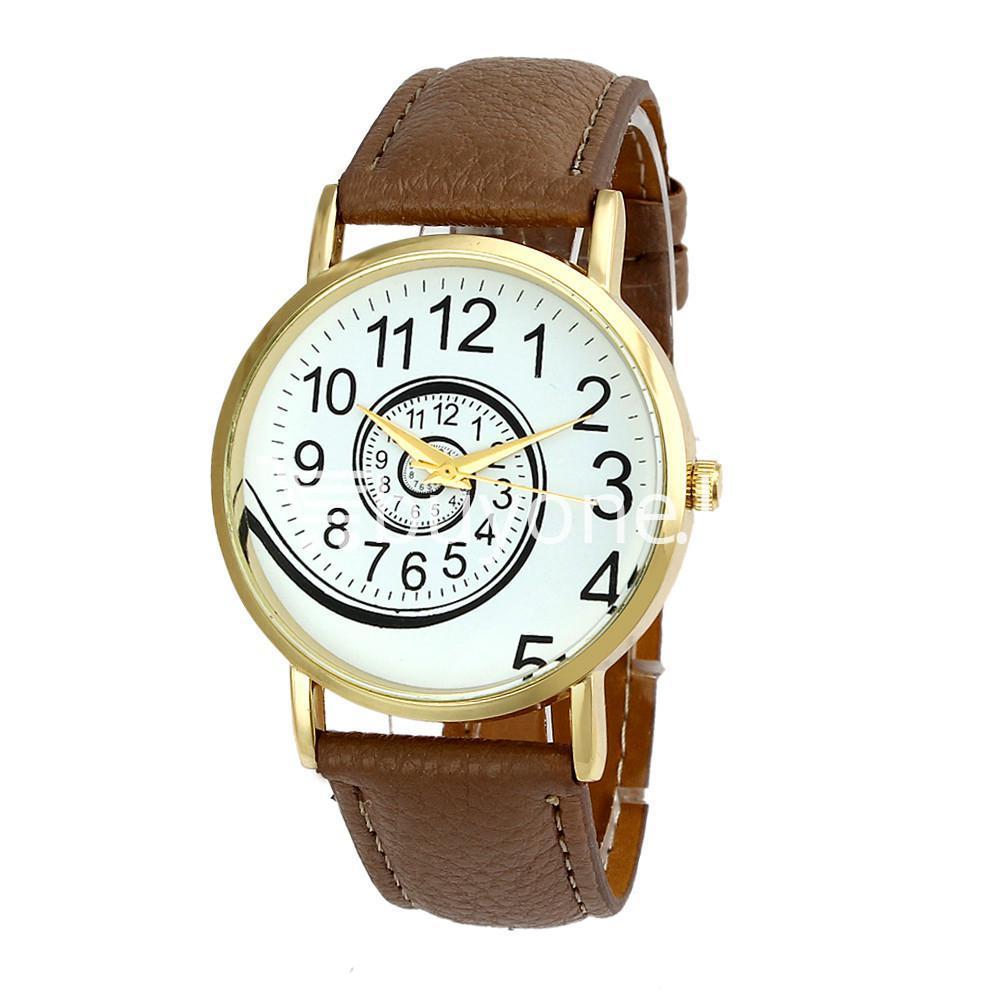 spiral design pattern quartz wrist watch watch store special best offer buy one lk sri lanka 09059 1 - Spiral Design Pattern Quartz Wrist Watch