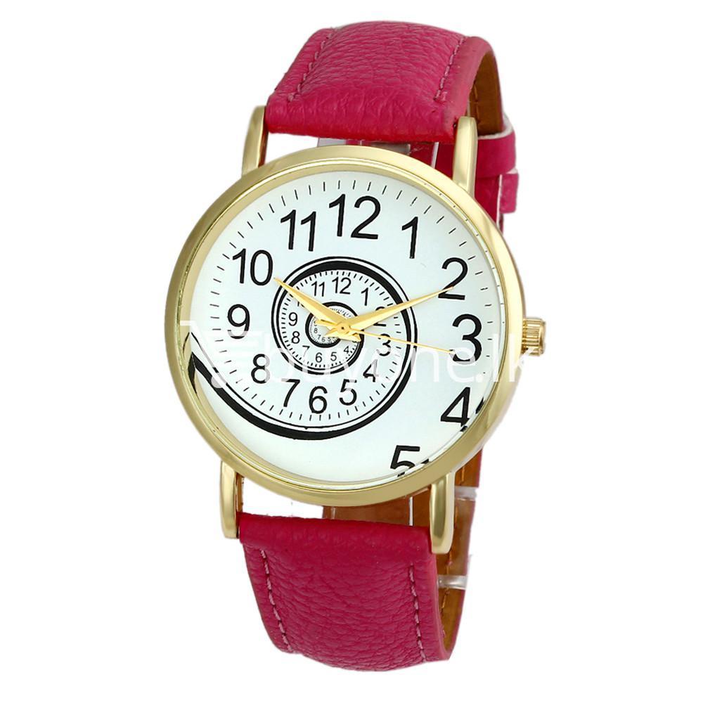 spiral design pattern quartz wrist watch watch store special best offer buy one lk sri lanka 09060 1 - Spiral Design Pattern Quartz Wrist Watch