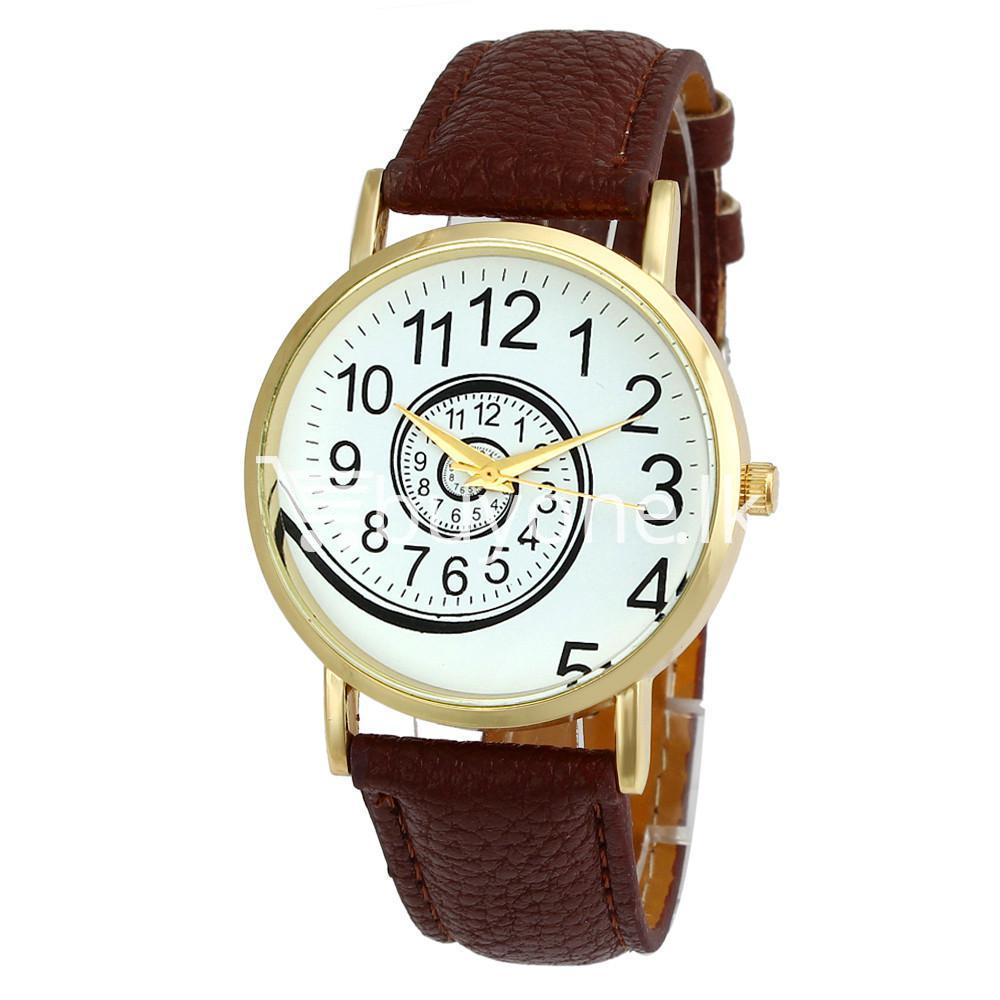 spiral design pattern quartz wrist watch watch store special best offer buy one lk sri lanka 09060 - Spiral Design Pattern Quartz Wrist Watch