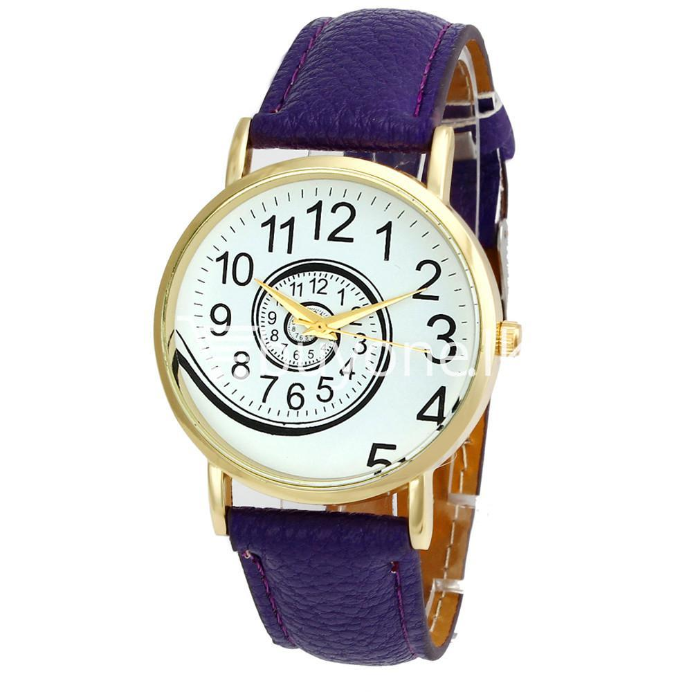 spiral design pattern quartz wrist watch watch store special best offer buy one lk sri lanka 09061 - Spiral Design Pattern Quartz Wrist Watch