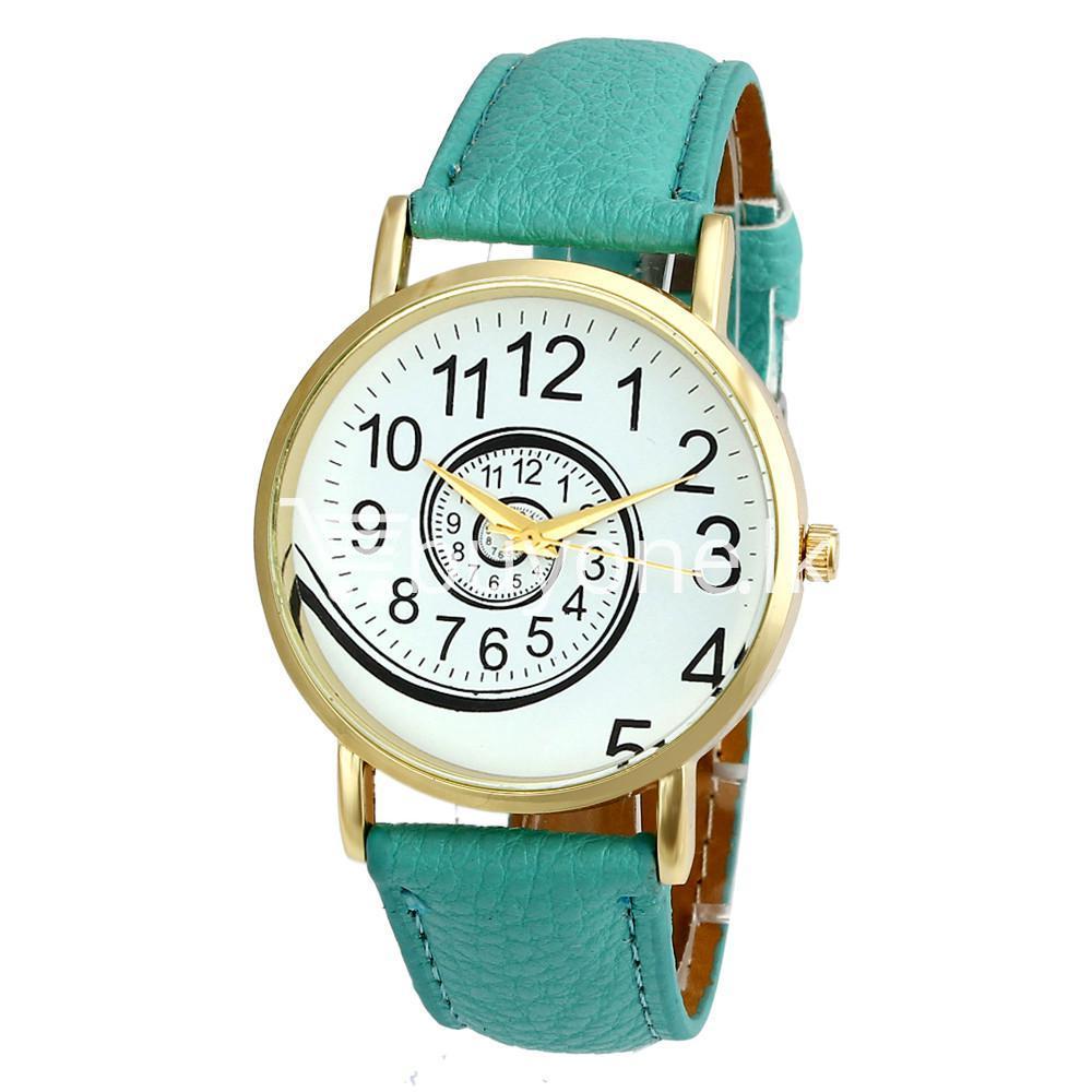 spiral design pattern quartz wrist watch watch store special best offer buy one lk sri lanka 09062 - Spiral Design Pattern Quartz Wrist Watch