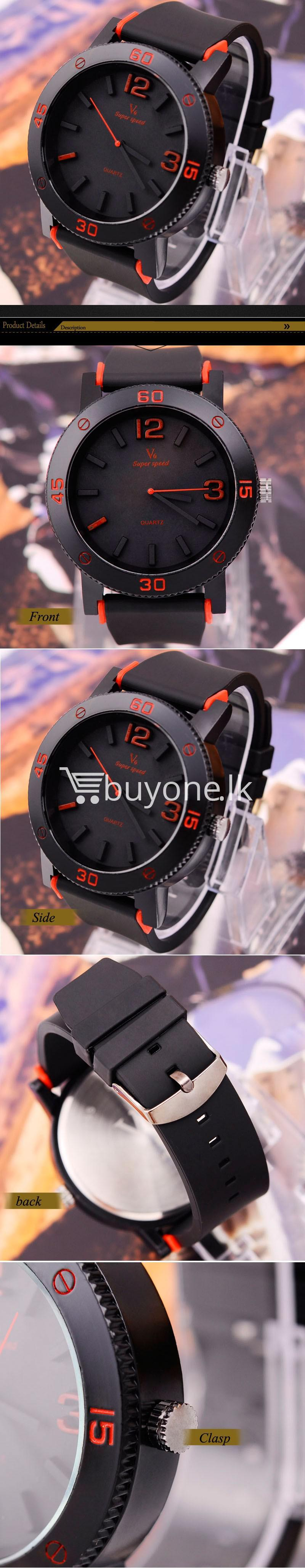 v6 brand fashion quartz sports watches men watches special best offer buy one lk sri lanka 24901 - V6 Brand Fashion Quartz Sports Watches