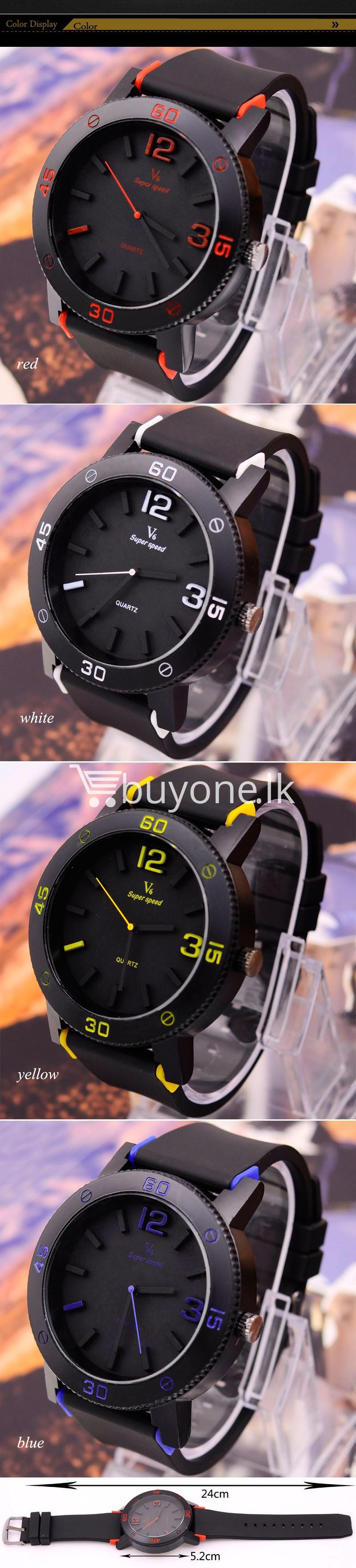 v6 brand fashion quartz sports watches men watches special best offer buy one lk sri lanka 24902 - V6 Brand Fashion Quartz Sports Watches