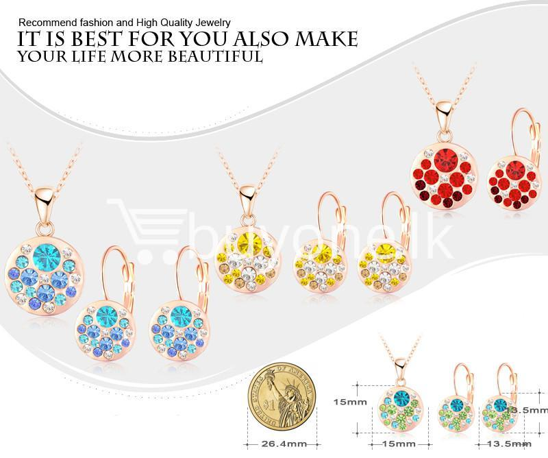 2016 new 18k rose gold plated pendantearrings jewelry set jewelry sets special best offer buy one lk sri lanka 63910 1 - 2016 New 18K Rose Gold Plated Pendant/Earrings Jewelry Set