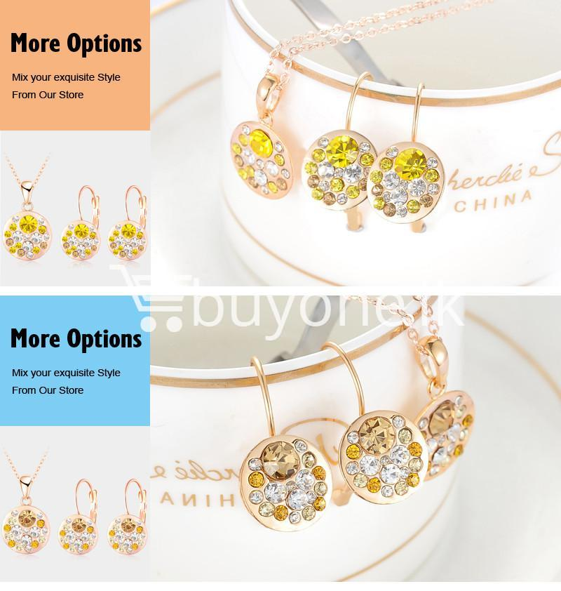 2016 new 18k rose gold plated pendantearrings jewelry set jewelry sets special best offer buy one lk sri lanka 63912 - 2016 New 18K Rose Gold Plated Pendant/Earrings Jewelry Set