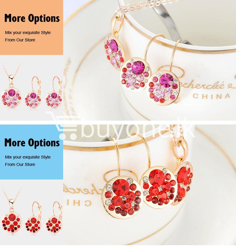 2016 new 18k rose gold plated pendantearrings jewelry set jewelry sets special best offer buy one lk sri lanka 63913 1 - 2016 New 18K Rose Gold Plated Pendant/Earrings Jewelry Set