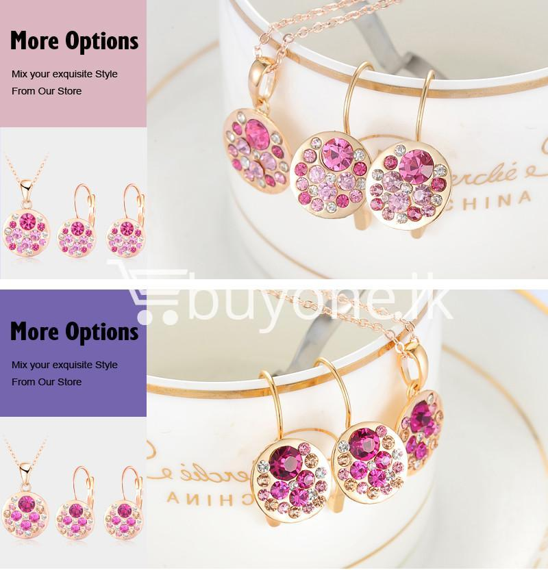 2016 new 18k rose gold plated pendantearrings jewelry set jewelry sets special best offer buy one lk sri lanka 63913 - 2016 New 18K Rose Gold Plated Pendant/Earrings Jewelry Set
