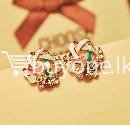2016 new upscale temperament rhinestone stud earrings jewelry earrings special best offer buy one lk sri lanka 63037 1 - 2016 New Upscale Temperament Rhinestone Stud Earrings Jewelry