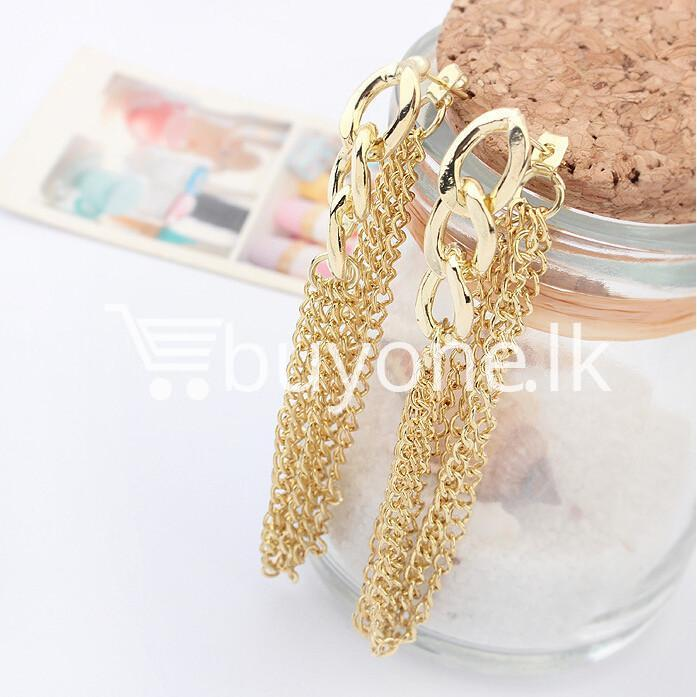 new fashion women gold plated drop earrings earrings special best offer buy one lk sri lanka 62174 1 - New Fashion Women Gold Plated Drop Earrings