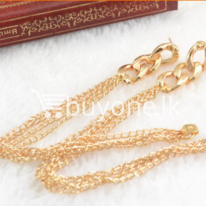 new fashion women gold plated drop earrings earrings special best offer buy one lk sri lanka 62175 - New Fashion Women Gold Plated Drop Earrings