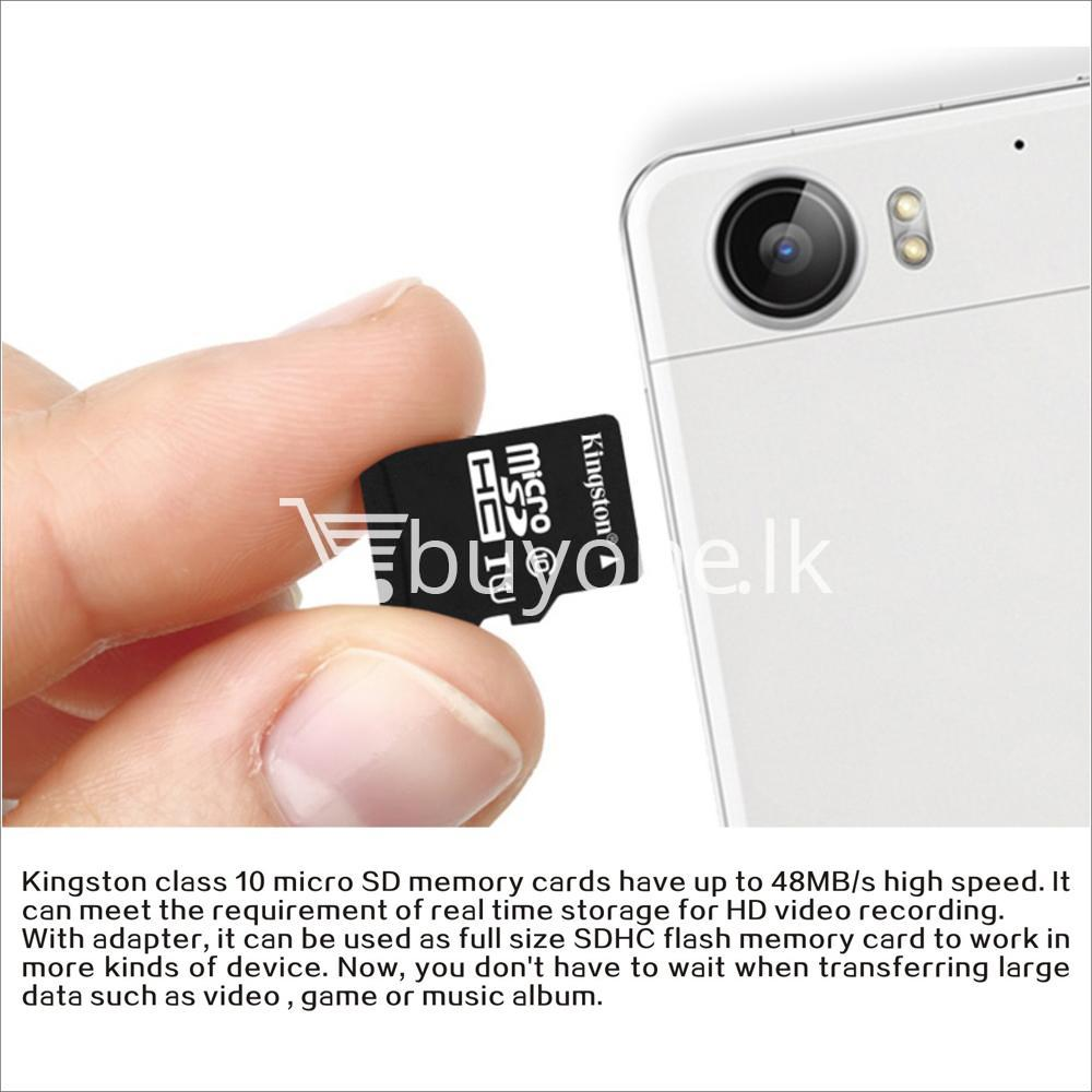 32gb kingston memory card micro sd class 10 sdhc with adapter mobile phone accessories special best offer buy one lk sri lanka 23400 - 32GB Kingston Memory Card Micro SD Class 10 SDHC with Adapter