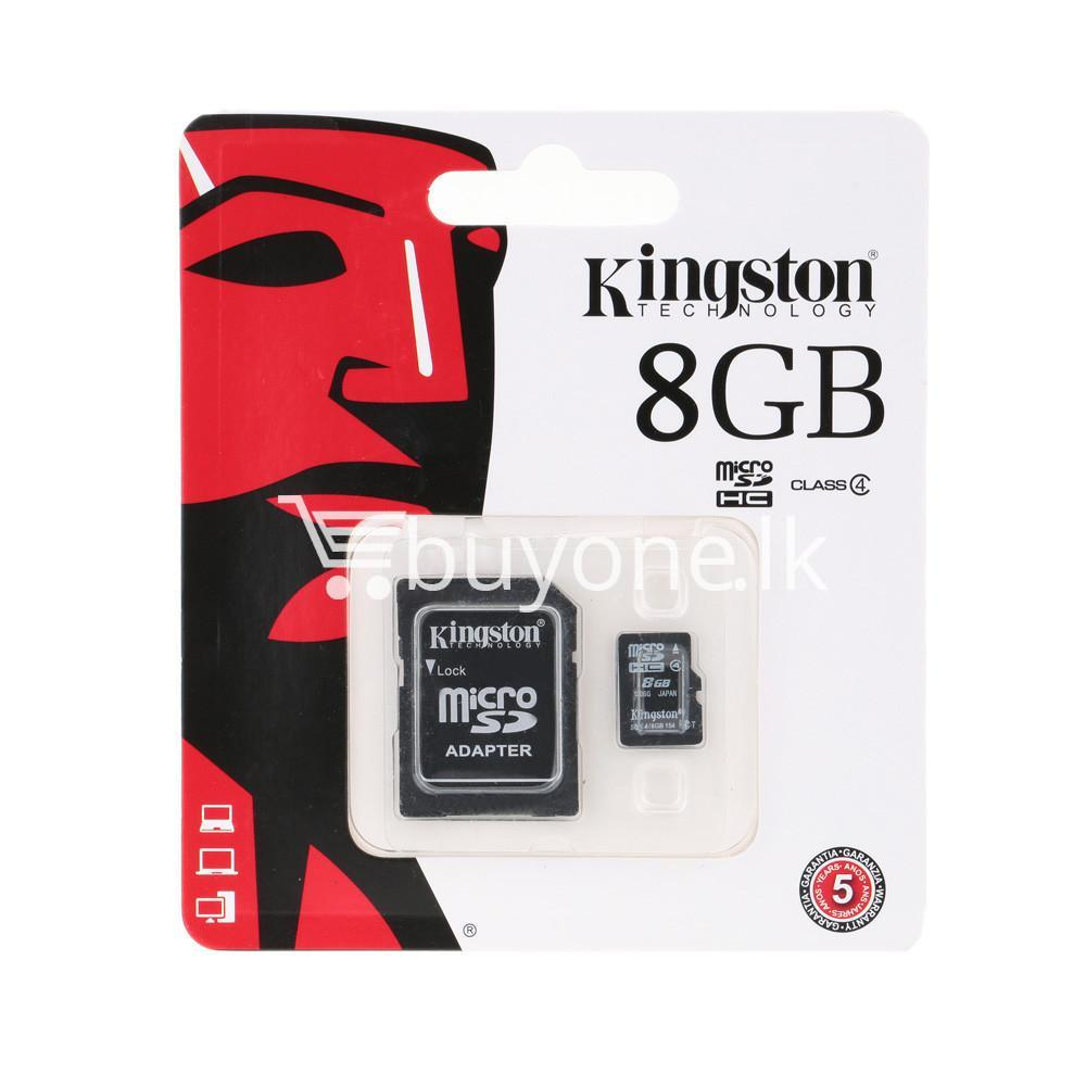 8gb kingston micro sd card memory card with adapter mobile phone accessories special best offer buy one lk sri lanka 24554 - 8GB Kingston Micro SD Card Memory Card with Adapter