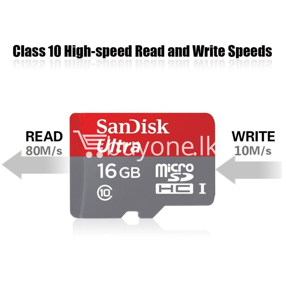 original new 16gb sandisk ultra microsd card microsdxc ush i with adapter camera store special best offer buy one lk sri lanka 85746 - Original New 16GB SanDisk Ultra MicroSD Card microSDXC USH-I with Adapter
