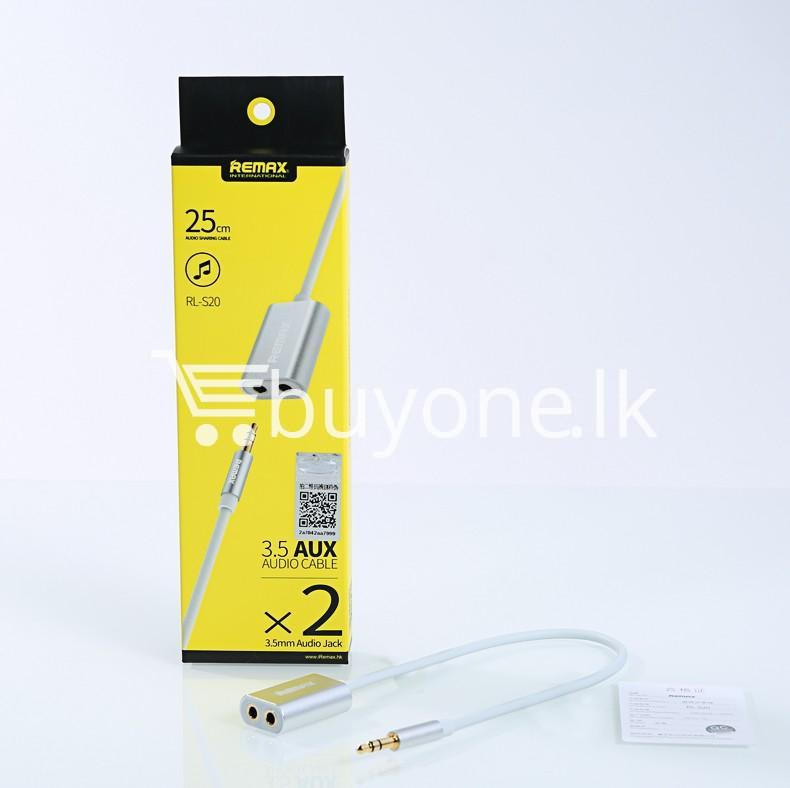 original remax 3.5mm aux cable plug audio wire jack mobile phone accessories special best offer buy one lk sri lanka 25945 - Original Remax 3.5mm AUX Cable Plug Audio Wire Jack