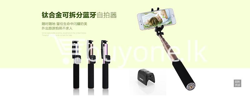 original remax p4 bluetooth selfie stick titanium metal body mobile phone accessories special best offer buy one lk sri lanka 24306 - Original Remax P4 Bluetooth Selfie Stick Titanium Metal Body