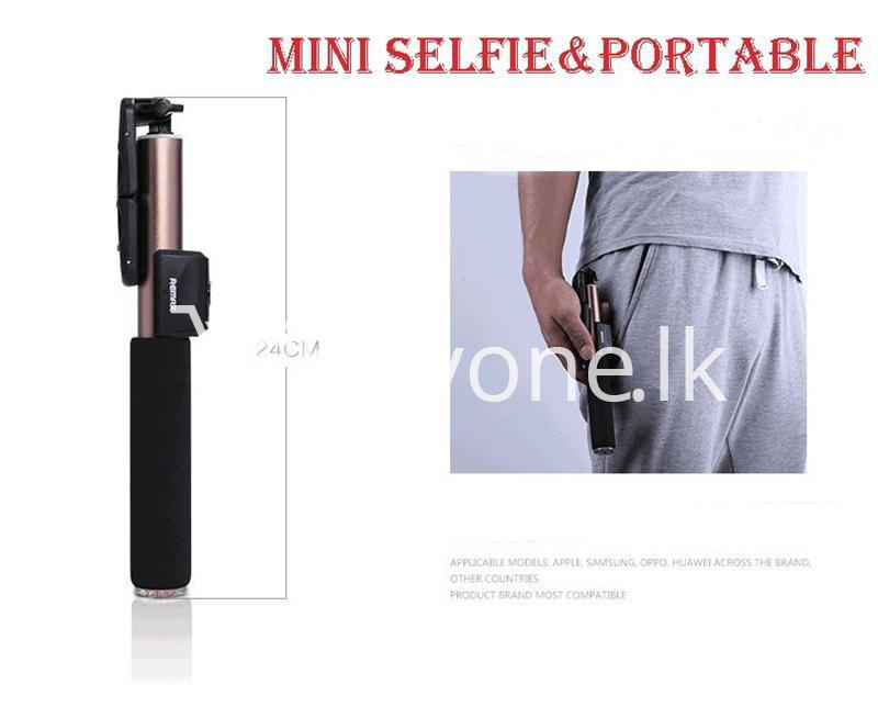 original remax p4 bluetooth selfie stick titanium metal body mobile phone accessories special best offer buy one lk sri lanka 24315 - Original Remax P4 Bluetooth Selfie Stick Titanium Metal Body