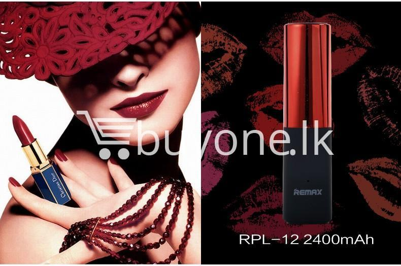remax 2600mah fashion luxury lipstick power bank mobile phone accessories special best offer buy one lk sri lanka 23662 - REMAX 2600mAh Fashion Luxury Lipstick Power Bank