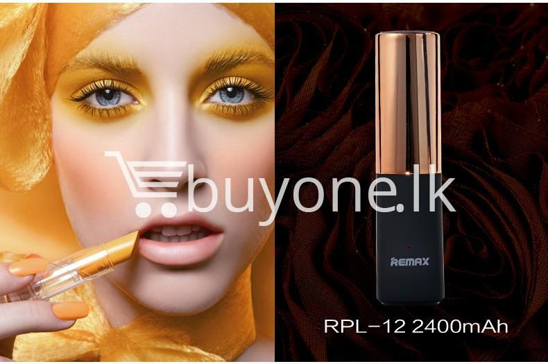 remax 2600mah fashion luxury lipstick power bank mobile phone accessories special best offer buy one lk sri lanka 23664 - REMAX 2600mAh Fashion Luxury Lipstick Power Bank