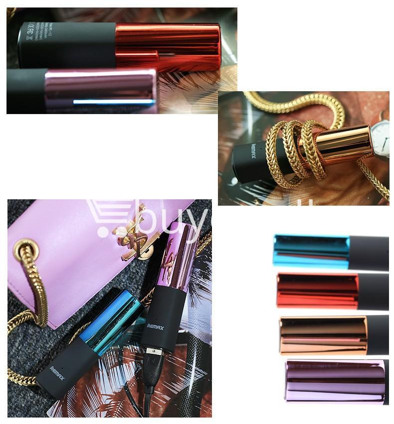 remax 2600mah fashion luxury lipstick power bank mobile phone accessories special best offer buy one lk sri lanka 23668 - REMAX 2600mAh Fashion Luxury Lipstick Power Bank