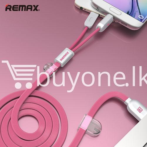 remax micro usb cable to lighting gemini transfer for android iphone 6 5s charge at same time mobile store special best offer buy one lk sri lanka 28178 - Remax Micro USB Cable to Lighting Gemini Transfer For Android iPhone 6 5S Charge At Same Time