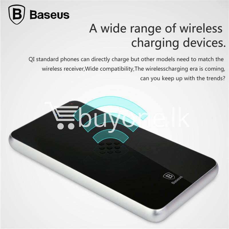 baseus wireless charging base with fast charger power bank 5000mah for iphone samsung htc mi mobile phones mobile phone accessories special best offer buy one lk sri lanka 74391 - BASEUS Wireless Charging Base with Fast Charger Power Bank 5000mAh For iPhone Samsung HTC MI Mobile Phones