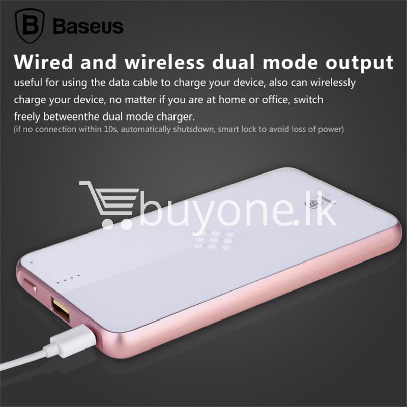 baseus wireless charging base with fast charger power bank 5000mah for iphone samsung htc mi mobile phones mobile phone accessories special best offer buy one lk sri lanka 74392 - BASEUS Wireless Charging Base with Fast Charger Power Bank 5000mAh For iPhone Samsung HTC MI Mobile Phones