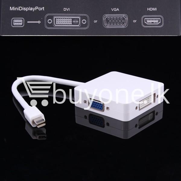 mini 3 in1 display port to hdmi vga dvi converter adapter for apple macbook imac hdmi digital cables computer store special best offer buy one lk sri lanka 65810 - Mini 3 in1 Display Port to HDMI VGA DVI Converter Adapter for Apple MacBook iMac HDMI Digital Cables