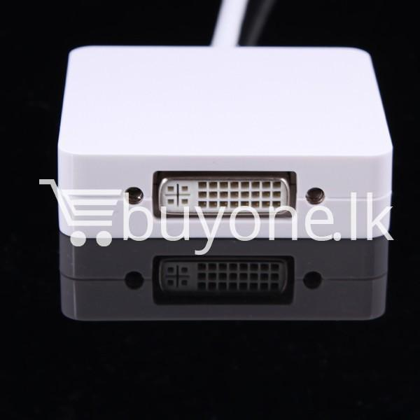 mini 3 in1 display port to hdmi vga dvi converter adapter for apple macbook imac hdmi digital cables computer store special best offer buy one lk sri lanka 65811 1 - Mini 3 in1 Display Port to HDMI VGA DVI Converter Adapter for Apple MacBook iMac HDMI Digital Cables