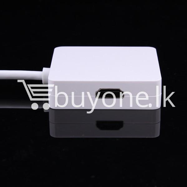 mini 3 in1 display port to hdmi vga dvi converter adapter for apple macbook imac hdmi digital cables computer store special best offer buy one lk sri lanka 65811 - Mini 3 in1 Display Port to HDMI VGA DVI Converter Adapter for Apple MacBook iMac HDMI Digital Cables