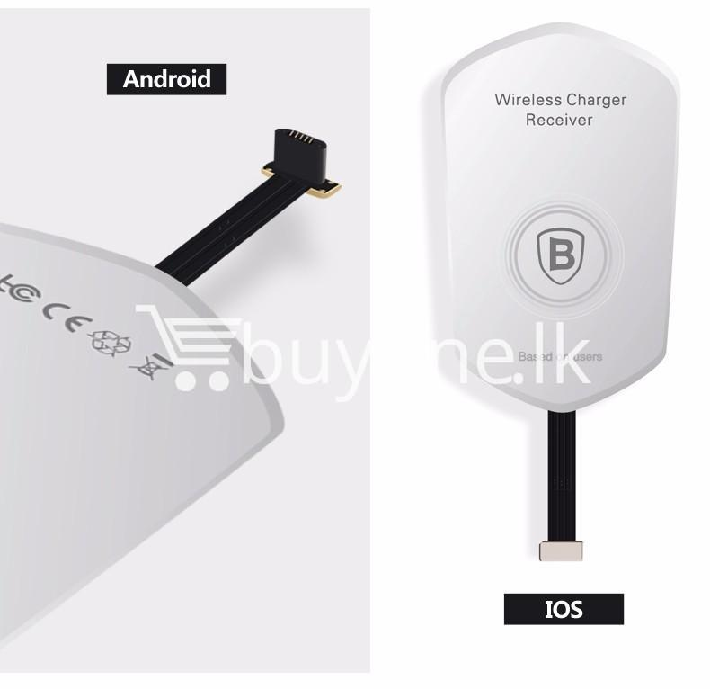 original baseus qi wireless charger charging receiver for iphone android mobile phone accessories special best offer buy one lk sri lanka 72720 - Original Baseus QI Wireless Charger Charging Receiver For iPhone Android