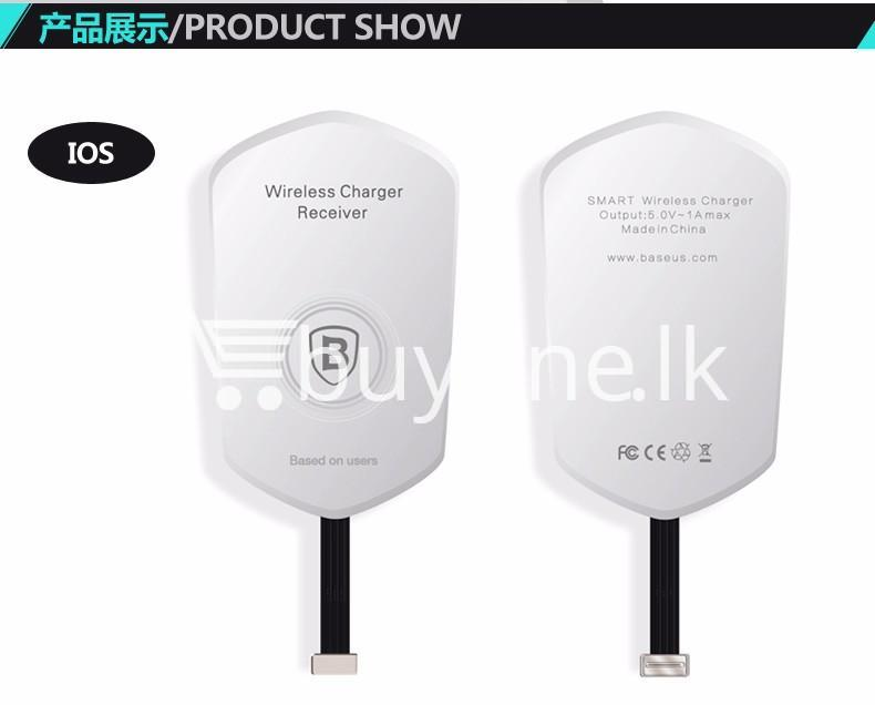 original baseus qi wireless charger charging receiver for iphone android mobile phone accessories special best offer buy one lk sri lanka 72732 - Original Baseus QI Wireless Charger Charging Receiver For iPhone Android
